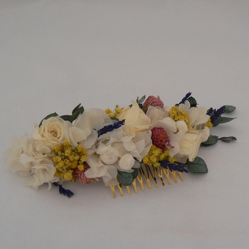 Tocado de flores preservadas #N29