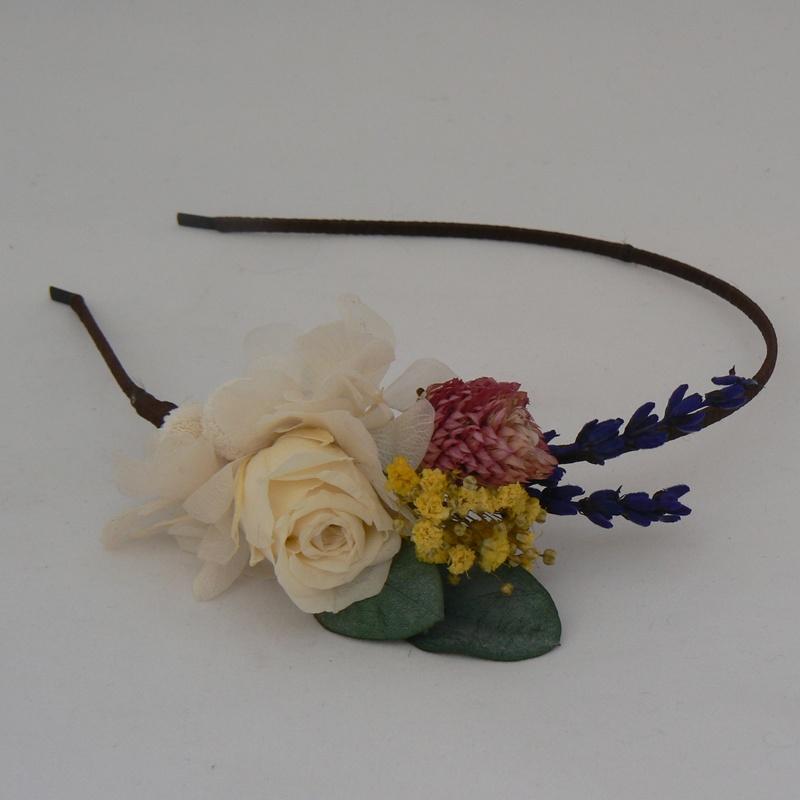 Diadema flores preservadas #C02
