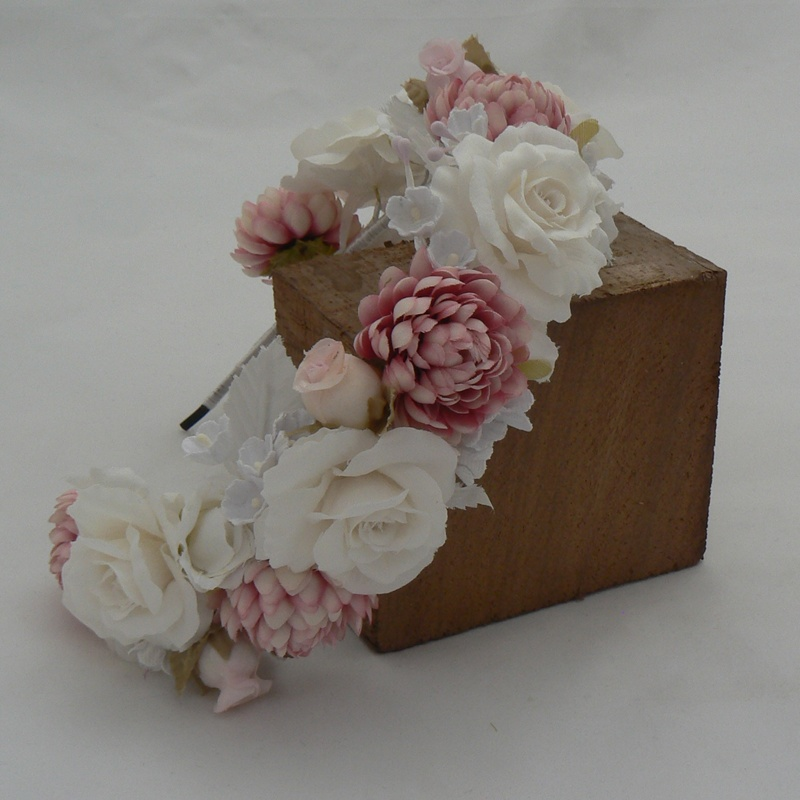 Diadema de flores #C01