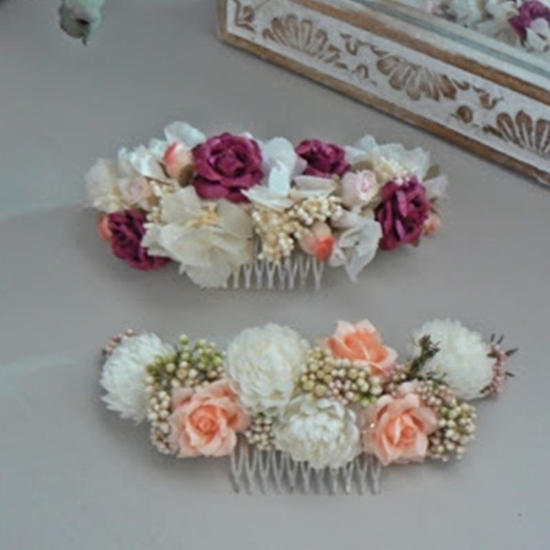 peinetas de flores #N10