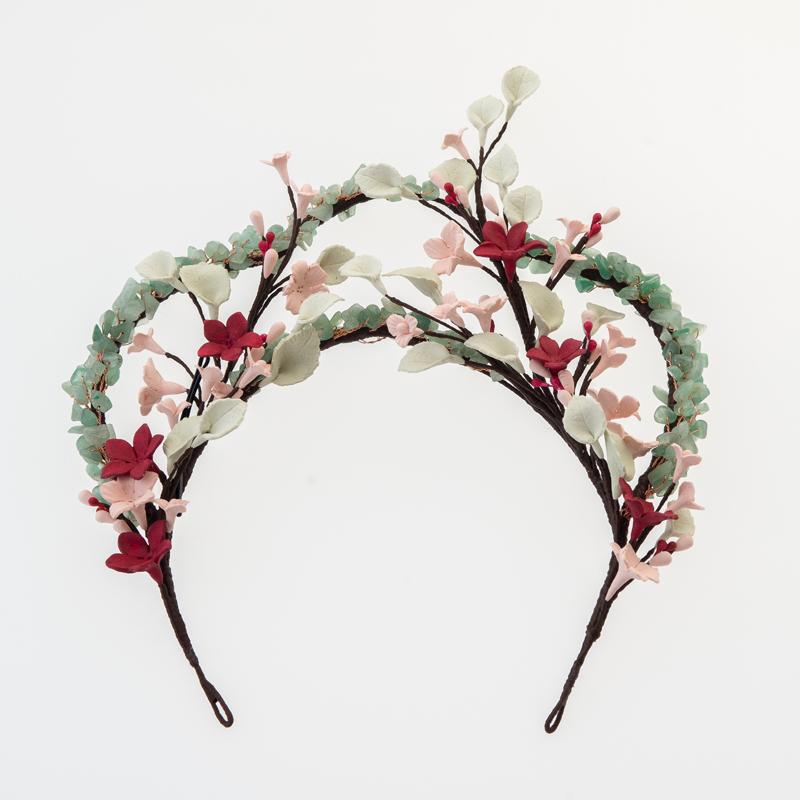 Tiara flores porcelana #N04