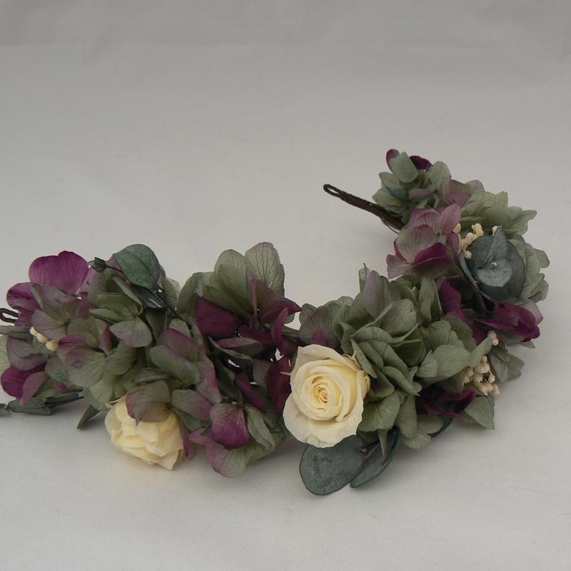 Tiara de hortensias #N45