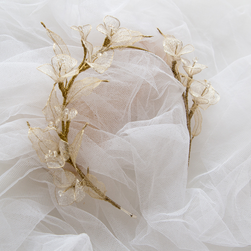 Diadema flores de rejilla #N94