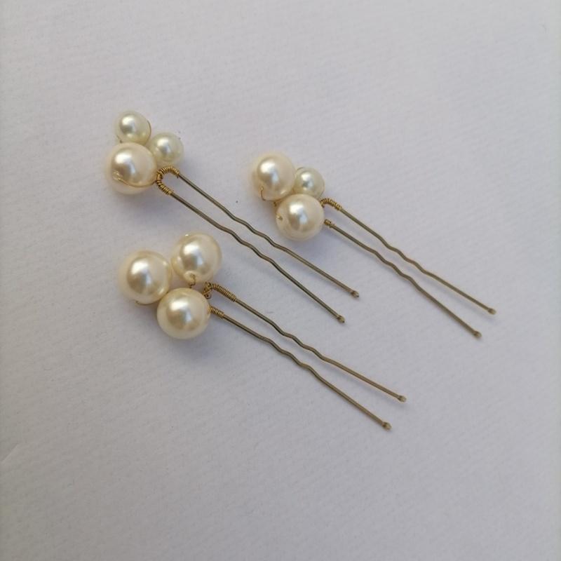 Horquillas perlas #N63