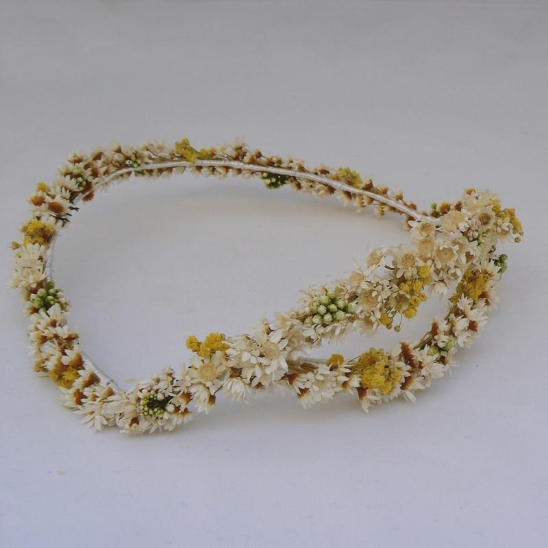 Corona flores secas #N17