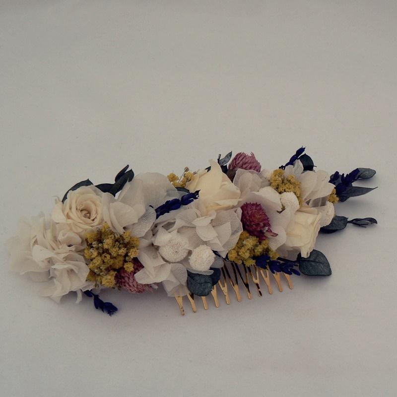 Tocado de flores preservadas #N13