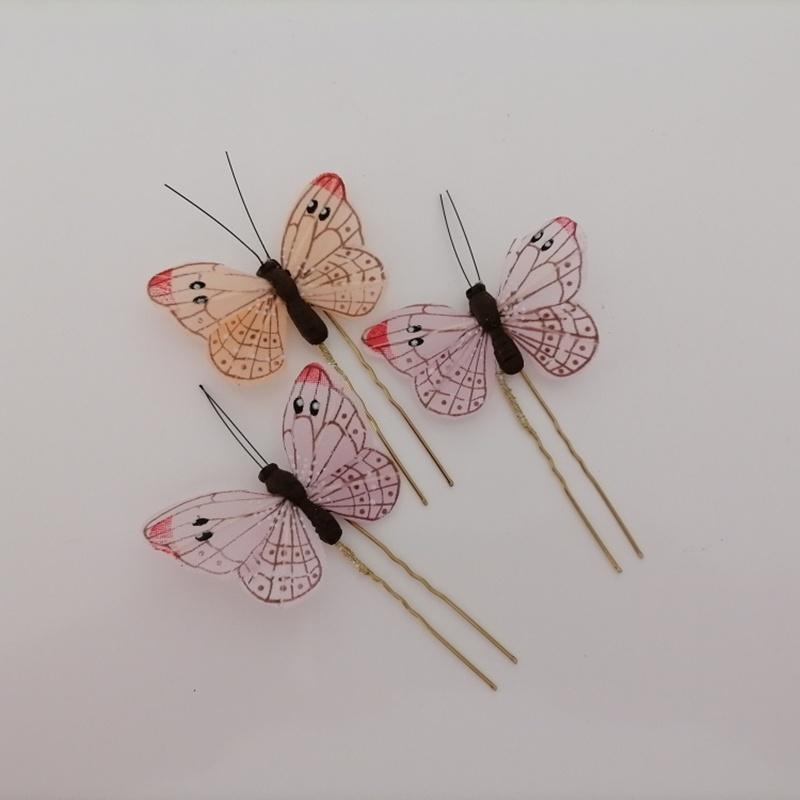 Horquillas mariposas #C17